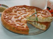 Pirog with Feta Cheese, Eggs and Green Onions