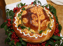 Pita for St. Theodore's Day