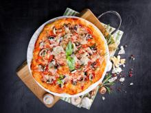 Aromatic Pizza with Basil