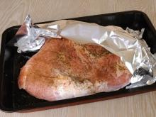 Pork Leg in Foil in the Oven