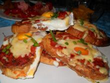 Triple Baked Sandwiches with Eggs