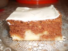 Juicy Cake with Vanilla Pudding