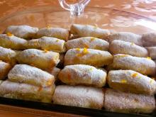 Wafer Rolls with Orange Rinds