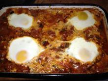 Eggs with Tomatoes in the Oven