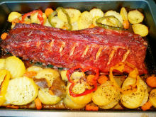 Pork Ribs with Vegetables in the Oven