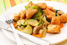 Beef with Zucchini Wedges