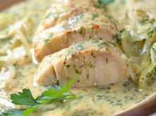 Oven Baked Fish with Cream