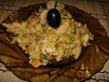 Risotto with Pork and Vegetables in Sauce