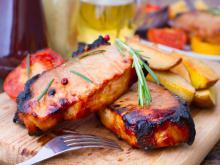 Marinated Pork Fillet Steaks
