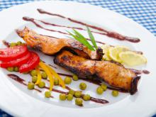 Oven-Grilled Sturgeon with Sauce