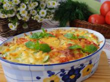 Zucchini with Eggs and Cheese in the Oven