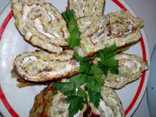 Elegant Zucchini Roll with Cream Cheese