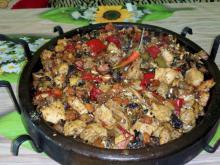 Saj with 2 Kinds of Meat and Vegetables