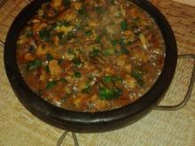 Enthusiasts` Saj with Pork and Veggies