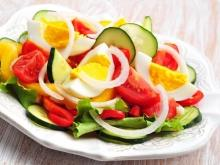 Colorful Salad with Eggs