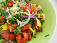 Spring Salad with Omelette