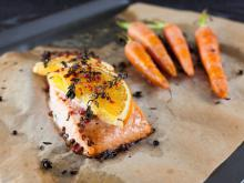 Baked Salmon with Oranges