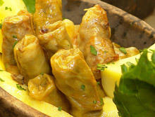 Cabbage Rolls with Fresh Cabbage