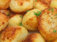 Sauteed Potatoes in a Glass Cook Pot