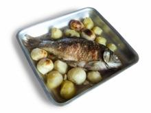 Broiled Carp with Potatoes