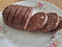 Chocolate Salami with Vanilla