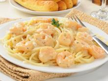 Pasta with Shrimp and Garlic Sauce