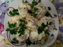 Feta Cheese, Roasted Pepper and Strained Yoghurt Salad