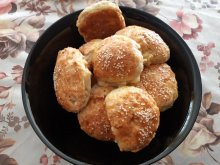 Fluffy Feta Cheese Buns with Butter