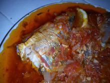 Baked Mackerel with Tomato Sauce