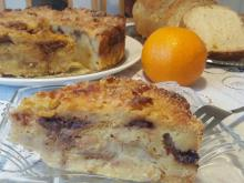 Cake with Cozonac, Bananas and Chocolate