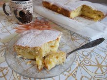 Cake with Vanilla Pudding