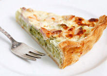 Savoury Pie with Spinach and Bacon