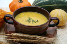 Cream of Zucchini and Corn Soup