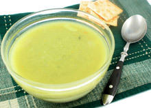Cream Pea Soup with Mint