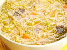 Thick Chicken Soup with Noodles