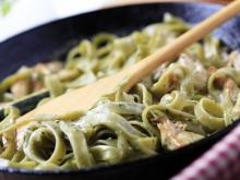 Spaghetti with Meat and White Sauce