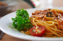 Spaghetti with Tuna and Dried Olives