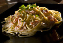 Capellini with Salmon