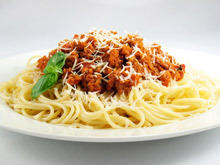 Spaghetti with Minced Meat and Sausages