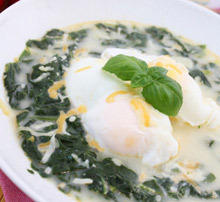 Poached Eggs with Nettle