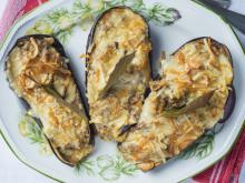 Stuffed Eggplants with Chicken Meat