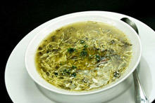Spinach Soup with Minced Meat