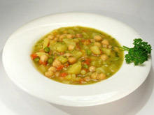 Vegetable Soup with Chickpeas