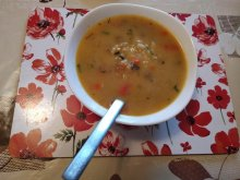Soup with Chicken Livers and Rice