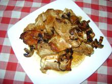 Pork Fillets with Onions and Mushrooms in the Oven