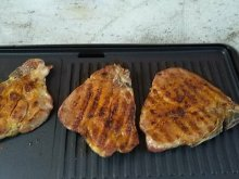 Pork Steaks on the Grill with Unique Marinade