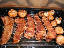 Grilled Pork Steaks with a Beer Marinade