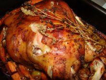 Baked Pork with Yams and Chives in the Oven