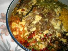 Pork with Vegetables, Cream and Processed Cheese