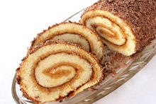 Swiss Roll with Rosehip Jam